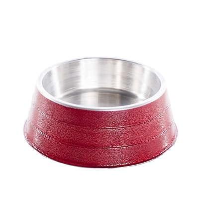Comedouro NF de Alumínio Pesado Vermelho 1,2 L