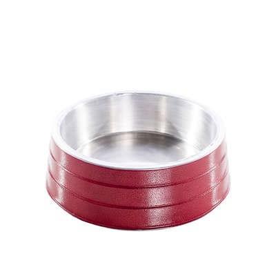 Comedouro NF de Alumínio Pesado Vermelho 1,7 l