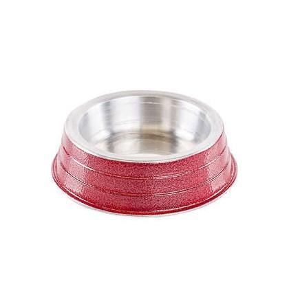 Comedouro NF de Alumínio Pesado Vermelho 150ml
