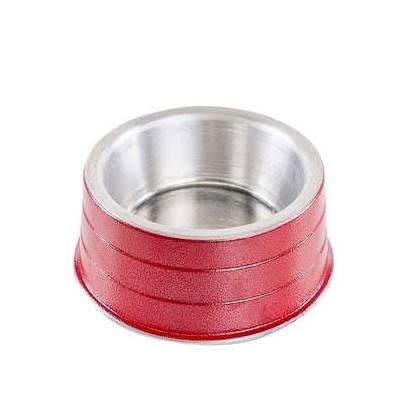 Comedouro NF de Alumínio Pesado Vermelho 300ml