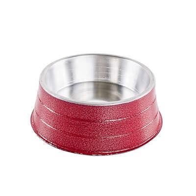 Comedouro NF de Alumínio Pesado Vermelho 600ml