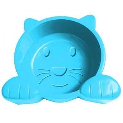 Comedouro Pet Injet Cat Face Azul