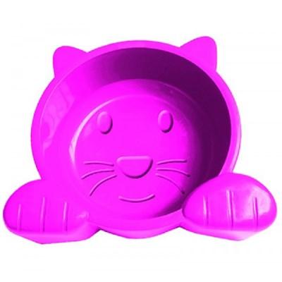 Comedouro Pet Injet Cat Face Rosa
