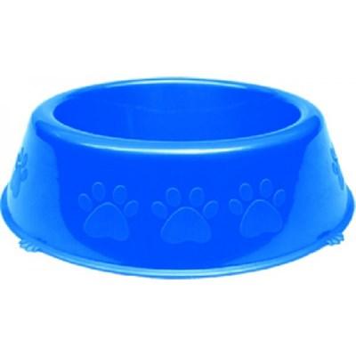 Comedouro Pet Injet Plástico Patinhas para Cães Azul 1100ml