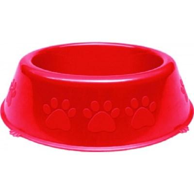 Comedouro Pet Injet Plástico Patinhas para Cães Vermelha 1900ml
