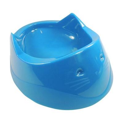 Comedouro Plástico Furacão Pet Cara do Gato Azul