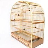 Gaiola Arco Fibra Fundo Alumínio para Pássaros N02
