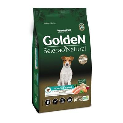 GoldeN Seleção Natural Cães Adultos de Pequeno Porte Sabor Frango & Arroz Mini Bits