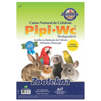 Granulado Zootekna Pipi Pet W.C Aroma Ervas Doce para Roedores 1kg