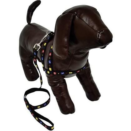 Guia e Peitoral São Pet para Cães Preto N02