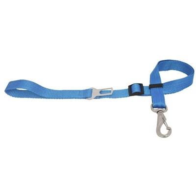 Guia São Pet Regulável com Cinto de Segurança para Cães Azul 100x 1,5