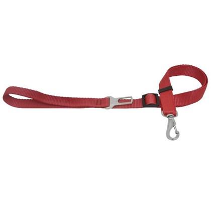 Guia São Pet Regulável com Cinto de Segurança para Cães Vermelho 100x 2,5
