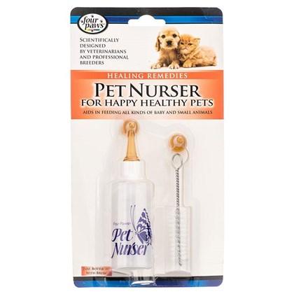 Kit Pet Nurser Mamadeira 2 Bicos  Escova para Cães e Gatos filhotes