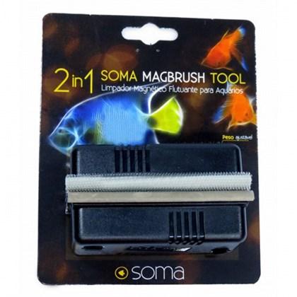 Limpador Magnético Soma Magbrush Médio para Aquários M