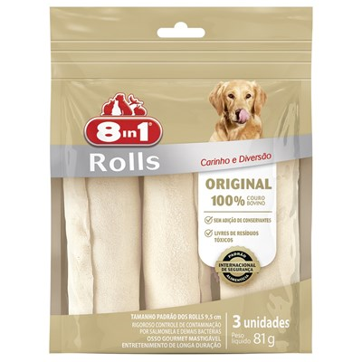 Osso 8in1 Original Roll para Cães 81gr