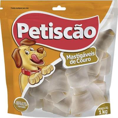 Osso Petiscão para Cães Nó N2 1kg