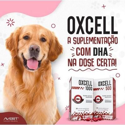 Oxcell 1000 suplemento para cachorros e gatos 30 cápsulas 1000mg