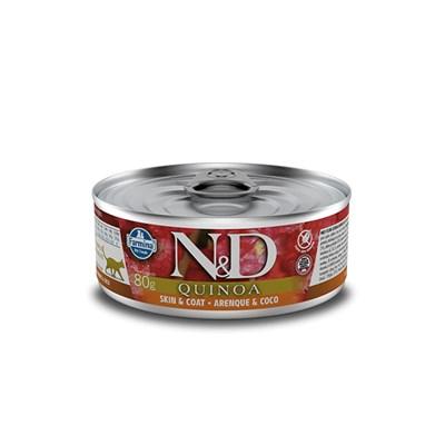 Patê ND Quinoa para Gatos Adultos Skin Coat Arenque 80gr