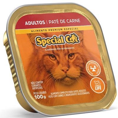 Patê Special Cat para Gatos Adultos Carne 100gr