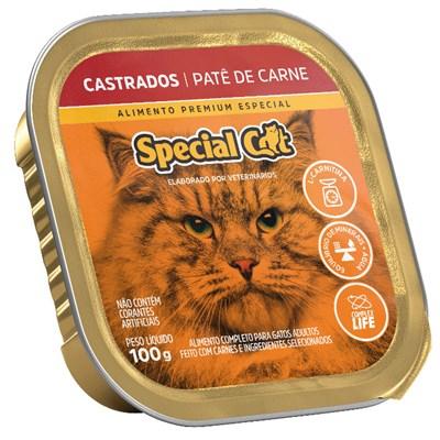 Patê Special Cat para Gatos Adultos Castrados Carne 100gr