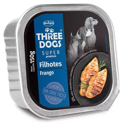 Patê Three Dogs Super Premium para Cães Filhotes 150gr