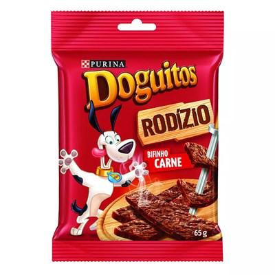 Petisco Doguitos Rodizio Para Cachorros Adultos Sabor Carne 65g