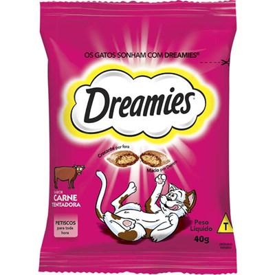 Petisco Dreamies para Gatos Adultos Carne 40gr