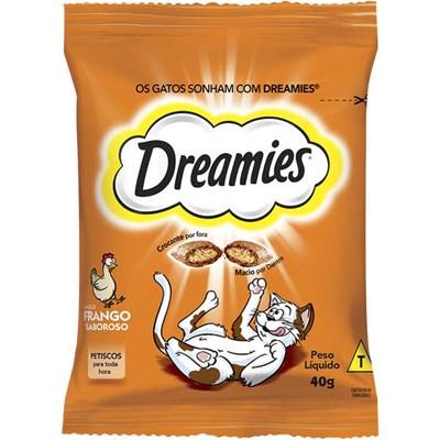 Petisco Dreamies para gatos adultos frango 40gr