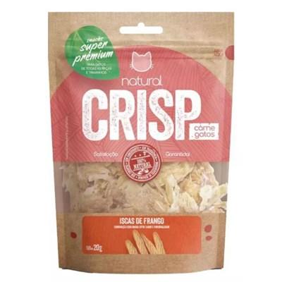 Petisco GMP Natural Crisp para Gatos Iscas Frango 20g