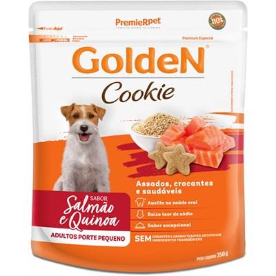 Petisco GoldeN Cookie cachorros adultos pequeno porte salmão e quinoa 350gr
