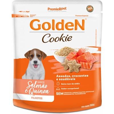 Petisco GoldeN Cookie cachorros filhotes salmão e quinoa 350gr