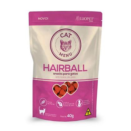 Petisco Luopet Menu Hairball para Gatos 40gr