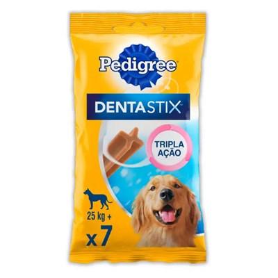 Petisco Pedigree Dentastix para cachorros de raças grandes com 7 unidades pacote de 270gr