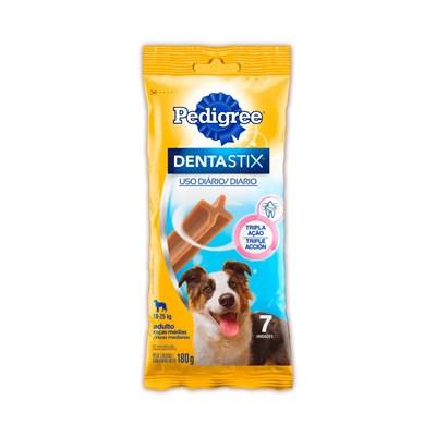 Petisco Pedigree Dentastix para cachorros de raças médias com 7 unidades pacote de 180gr