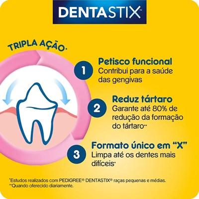 Petisco Pedigree Dentastix para cachorros de raças pequenas com 3 unidades pacote de 45gr