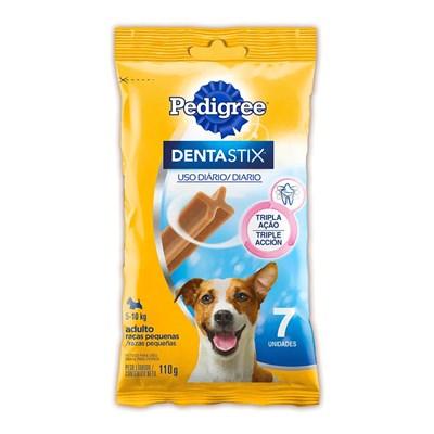 Petisco Pedigree Dentastix para cachorros de raças pequenas com 7 unidades pacote de 110gr
