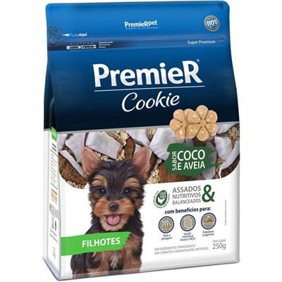 Petisco PremieR Cookie cachorros filhotes coco e aveia 250gr