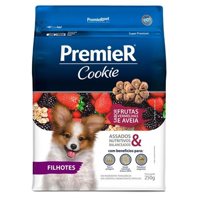 Petisco PremieR Cookie cachorros filhotes frutas vermelhas 250gr