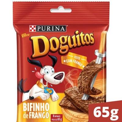 Petisco Purina Doguitos para cachorros adultos bifinho de frango 65g