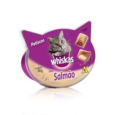 Petisco Whiskas para gatos adultos salmão 40gr