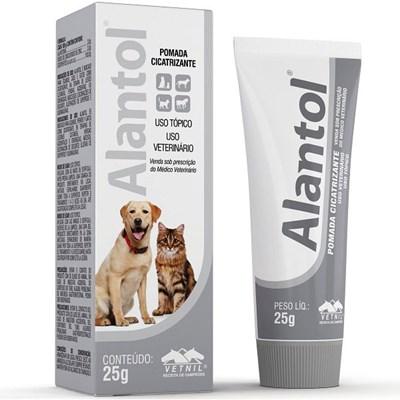 Pomada Cicatrizante Alantol para Cães e Gatos 25gr