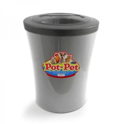 Porta Ração Pet Injet Pot Pet Prata 3l