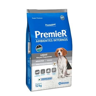 PremieR Ambientes Internos Light Cães Adultos Sabor Frango & Salmão 12kg