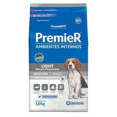 PremieR Ambientes Internos light raças pequenas cachorros adultos frango & salmão 1,0kg
