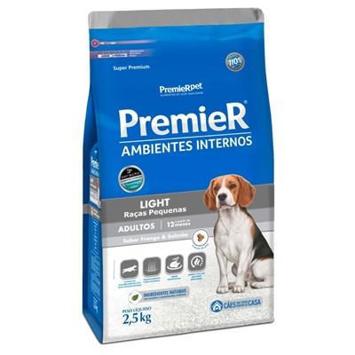 PremieR Ambientes Internos light raças pequenas cachorros adultos frango & salmão 2,5kg