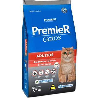 PremieR Gatos Adultos abientes internos Salmão 7,5 kg