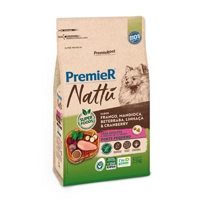 Premier Nattu para Cães Adultos Raças Pequenas Mandioca 2,5kg