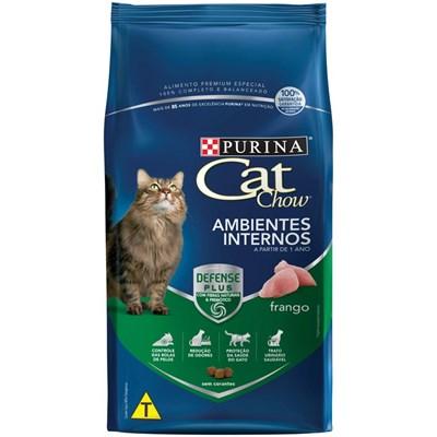 Ração Cat Chow para Gatos Adultos Ambientes Internos Aves 3kg