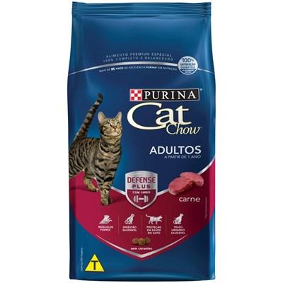 Ração Cat Chow para Gatos Adultos Carne 3kg
