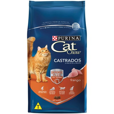 Ração Cat Chow para Gatos Adultos Castrados Frango 10,1kg